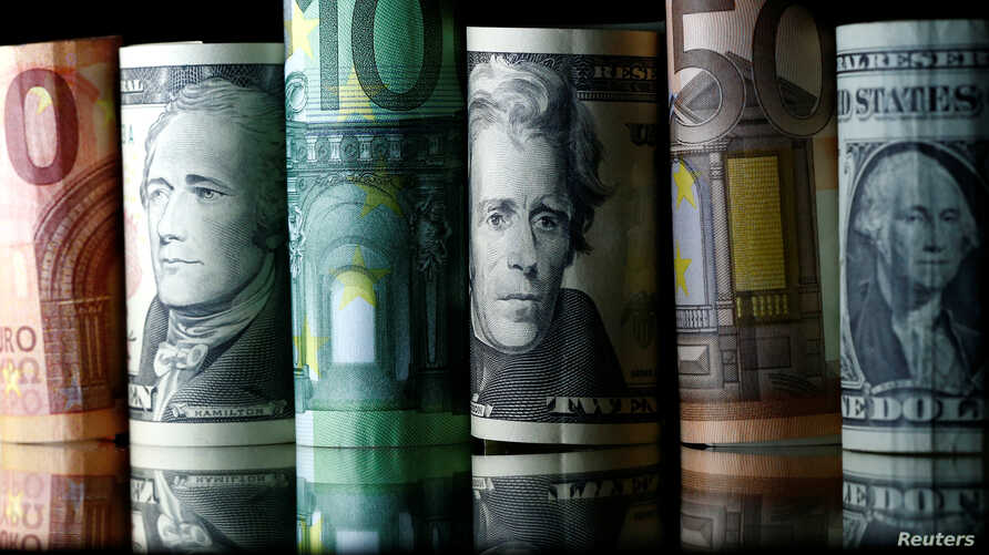 Dollar, Euro and Pound banknotes are seen in this picture illustration taken April 28, 2017.