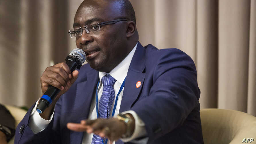 Vice President of Ghana Mahamudu Bawumia speaks during a panel discussion on the State of the Africa Region at the World Bank IMF Spring Meetings in Washington, D.C., April 22, 2017.