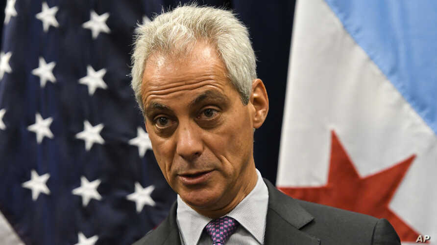 Chicago Mayor Rahm Emanuel speaks during a press conference on sanctuary cities, Jan. 25, 2017, in Chicago.