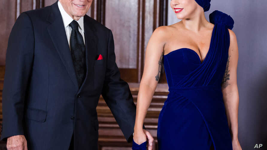 In this photo dated Sept. 22 , 2014, Lady Gaga and Tony Bennett arrive for a media event shortly after they released a joint album in late September, 2014.