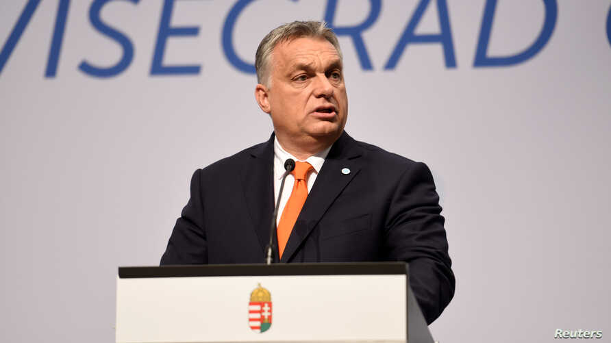 Prime Minister of Hungary Viktor Orban attends a news conference in Budapest, Hungary, June 21, 2018.