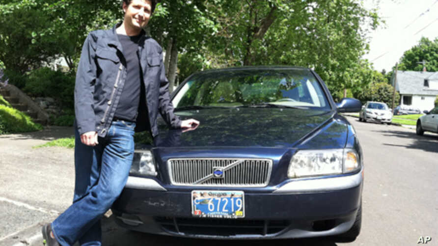 Eric Loebel, of Portland, Oregon, plans to rent his Volvo S80 out to strangers with the help of a car sharing service.