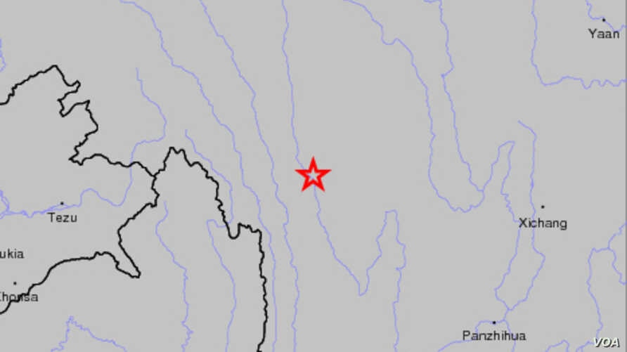 China earthquake locater map (Image Credit: USGS)
