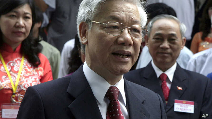 FILE - Vietnam's Communist Party General Secretary Nguyen Phu Trong .