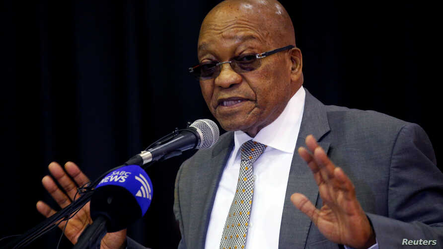 South Africa's President Jacob Zuma addresses an anti-crime meeting in Elsie's River, Cape Town, South Africa, May 30, 2017.