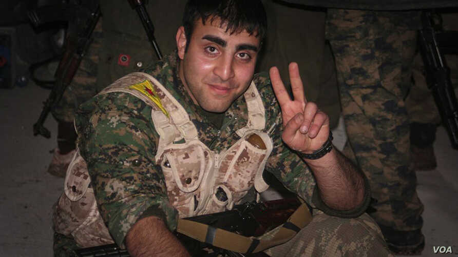 Amir Qobadi in YPG uniform in 2014. (courtesy of YPG Media Center)
