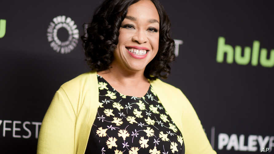 "FILE - Shonda Rhimes is seen attaneding the 33rd Annual Paleyfest: ""Scandal"" event in Los Angeles, California, March 15, 2016."