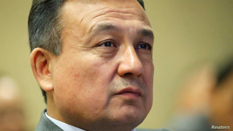 Dolkun Isa, President of the World Uyghur Congress attends an event concerning China ahead of the Human Rights Council review in Geneva, Switzerland, November 2, 2018.