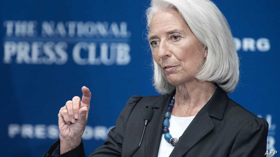 International Monetary Fund (IMF) Managing Director Christine Lagarde delivers remarks on the world's economy at the National Press Club in Washington, D.C, Jan. 15, 2014.