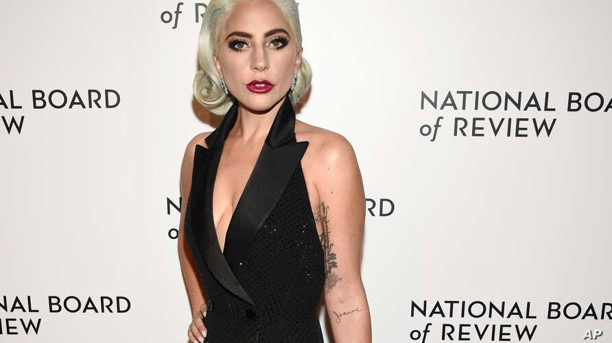 Lady Gaga attends the National Board of Review Awards gala at Cipriani 42nd Street in New York, Jan. 8, 2019.