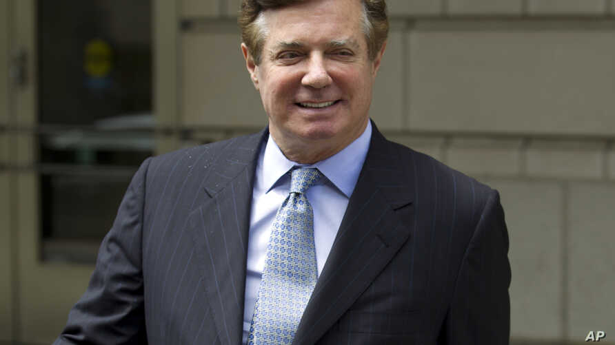 Paul Manafort, President Donald Trump's former campaign chairman, leaves U.S. District Court after a hearing, May 23, 2018, in Washington.