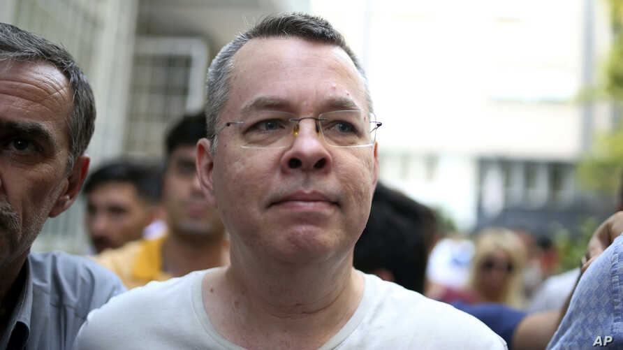 Andrew Craig Brunson, an evangelical pastor from Black Mountain, North Carolina, arrives at his house in Izmir, Turkey, July 25, 2018. An American pastor who had been jailed in Turkey for over 18 months on terror and espionage charges was recently re...