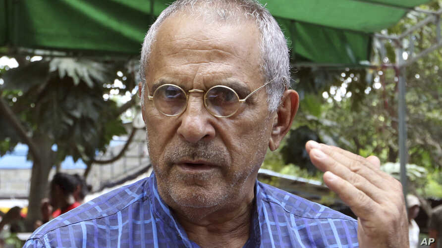 Nobel peace prize laureate and former East Timorese President Jose Ramos-Horta talks to journalists in Dili, East Timor, April 14, 2018.