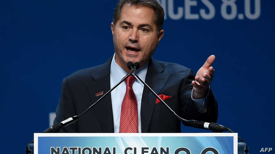 FILE - Students and professors at the University of Nevada-Las Vegas called on university President Len Jessup, pictured speaking at an energy summit in Las Vegas in August 2015, to punish instructor Matt Buch for his remarks about students who were