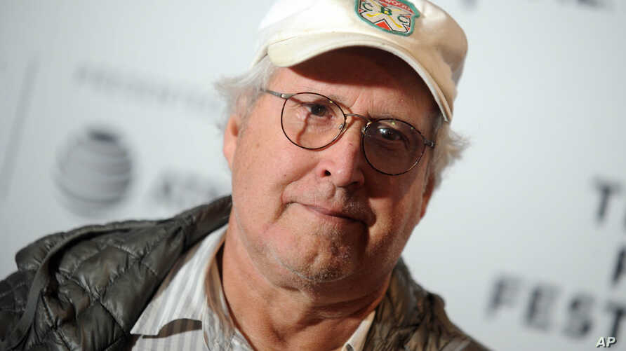 """American actor-comedian Chevy Chase is seen at the premiere of """"Dog Years""""  in New York City, April 22, 2017."""
