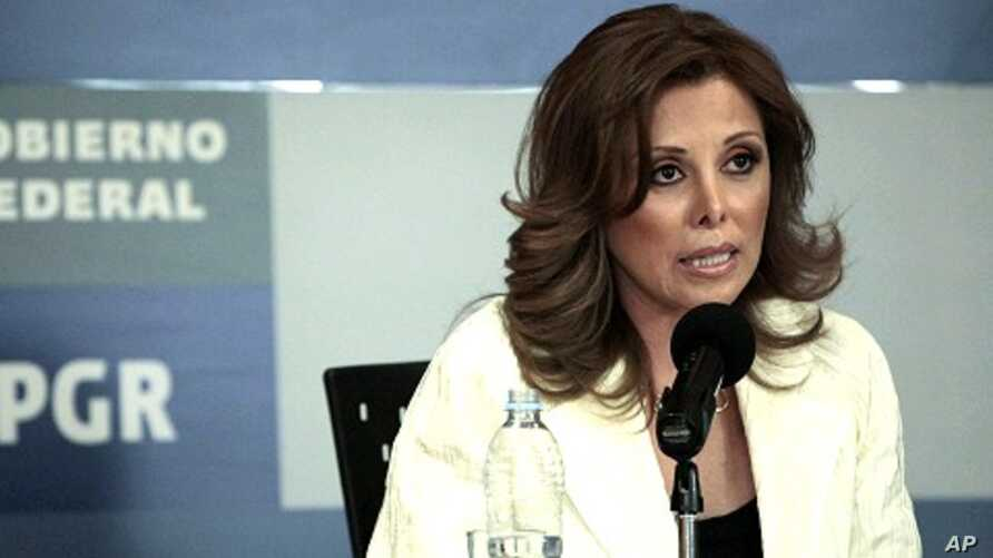 Mexico's Attorney General Marisela Morales speaks to the media during a news conference in Mexico City April 26, 2011.