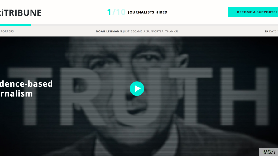 The founder of Wikipedia has launched a new website to fight fake news.