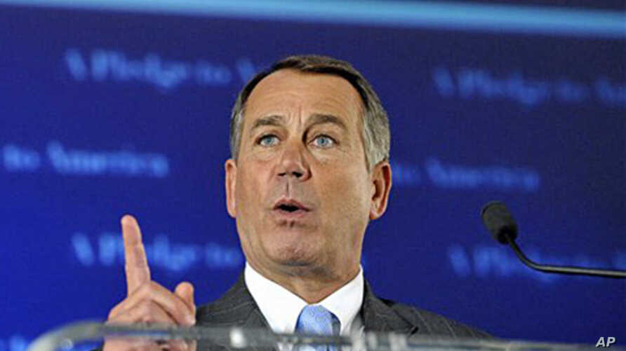 House Republican leader John Boehner celebrates the GOP's victory that changes the balance of power in Congress and will likely elevate him to speaker of the House, 02 Nov 2010
