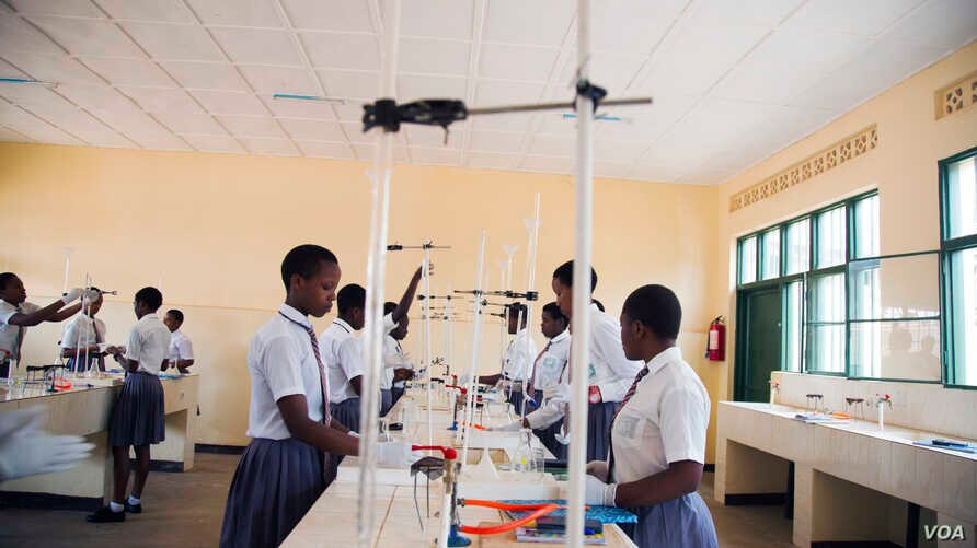 The FAWE Girls' School in the Gisozi area of the Rwandan capital of Kigali focuses its curriculum on STEM. Other STEM-focused schools have opened in Rwanda in the past decade. Oct. 2017