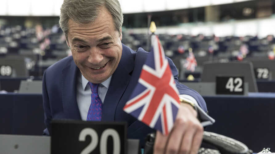 Britain's former UKIP leader Nigel Farage attends a session at the European Parliament in Strasbourg, eastern France, Wednesday, April 5, 2017.