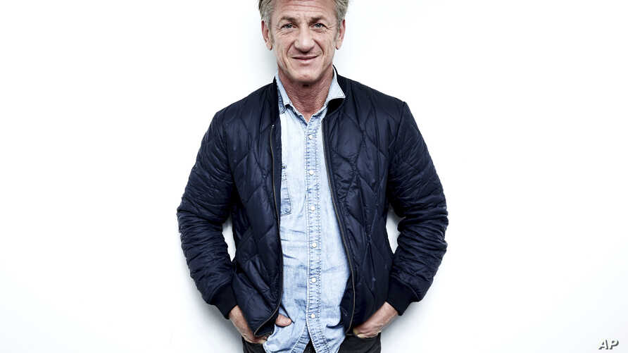 Author-activist Sean Penn poses for a portrait in New York to promote his novel 'Bob Honey Who Just Do Stuff,' March 27, 2018.