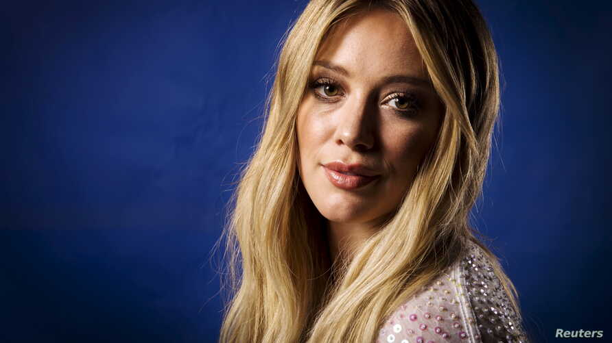 """Actress and singer Hilary Duff poses for a portrait while promoting her new album """"Breathe In. Breathe Out."""" in New York, June 17, 2015."""