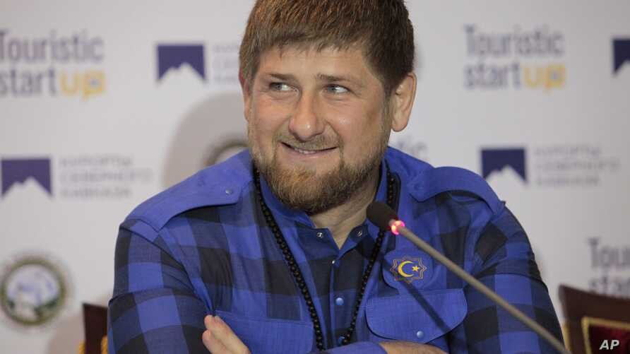 Chechen regional leader Ramzan Kadyrov speaks at a news conference in Chechnya's provincial capital Grozny, Russia, April 12, 2014.