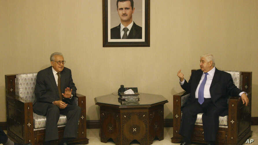 Progress in rebel efforts to create alternative government has been stalled by some in Syrian National Coalition who believe another route to peace may be achieved by UN-Arab League special envoy to Syria Lakhdar Brahimi, shown here with Syria's fore