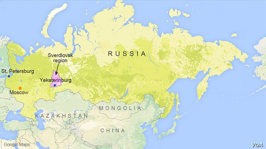 Moscow, St. Petersburg, and Yekaterinburg, Russia
