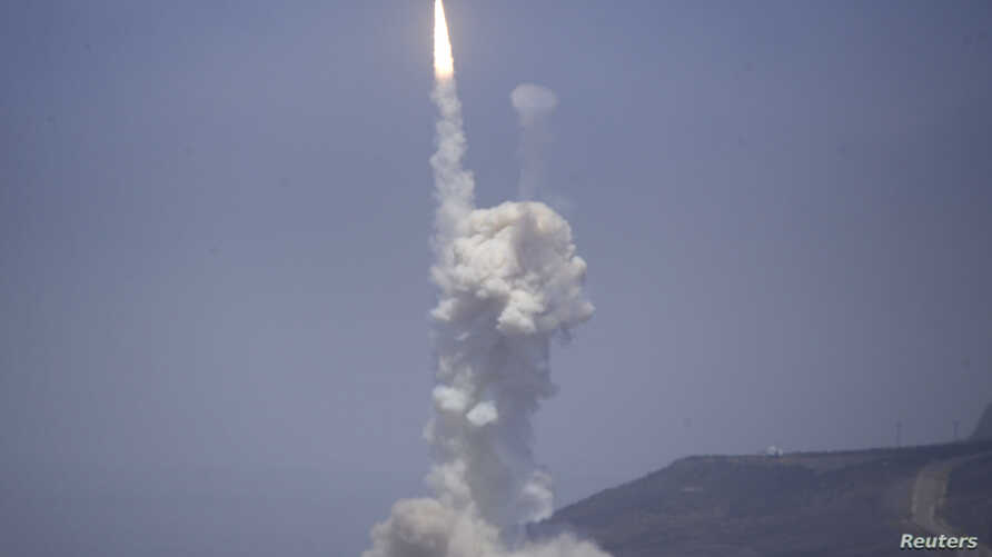 A Raytheon Co. 'kill vehicle' separates from a rocket and
