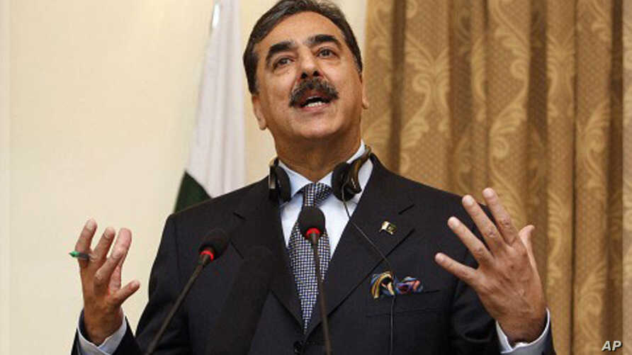 Pakistani Prime Minister Yousuf Raza Gilani (file photo).