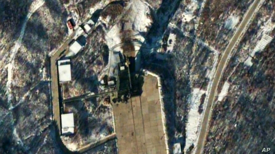 FILE - A satellite image provided by DigitalGlobe shows the Sohae Satellite Launching Station in Tongchang-ri, North Korea.