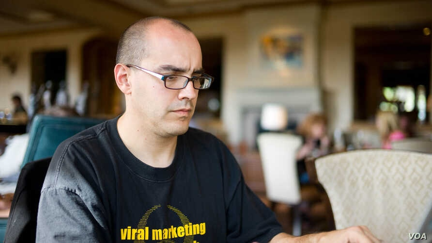 FILE - Venture capitalist Dave McClure at the 2010 South by Southwest, the tech, music, gaming and film conference and festival in Austin, Texas.