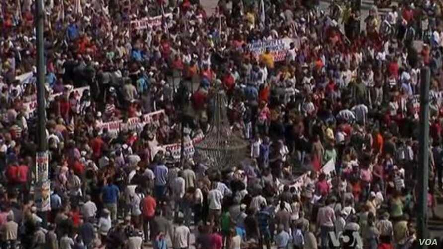 Police Clash with Thousands of Protesters in Greece