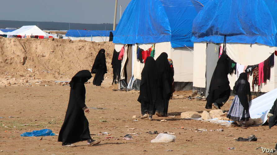 2542: The population of al-Hol camp has swelled far beyond capacity as wives and children continued to evacuate the Islamic State groups last stronghold in recent days to al-Hol Camp, Syria, March 4, 2019.