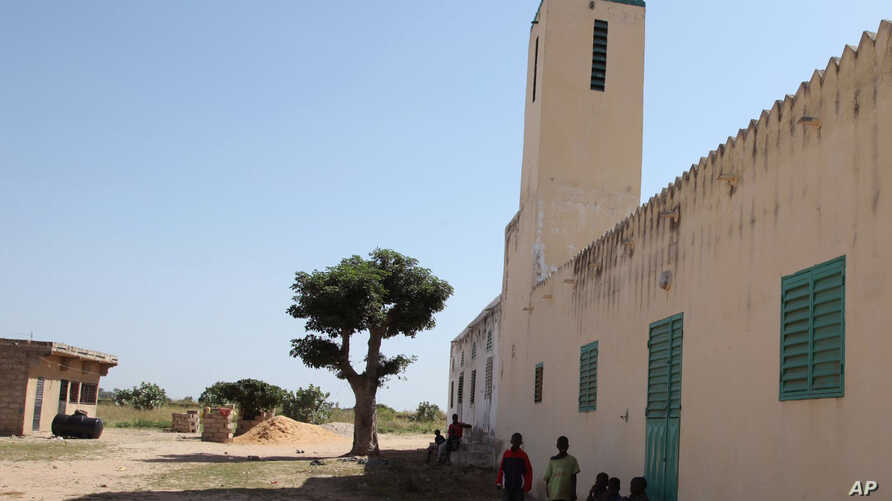 FILE - the mosque that was used by Imam Alioune Badara Ndao in Kaolack, Senegal, Nov. 20, 2015. Dozens of armed security forces descended on the Quranic school at night, arresting an imam suspected of having links to Islamic extremists in Nigeria.