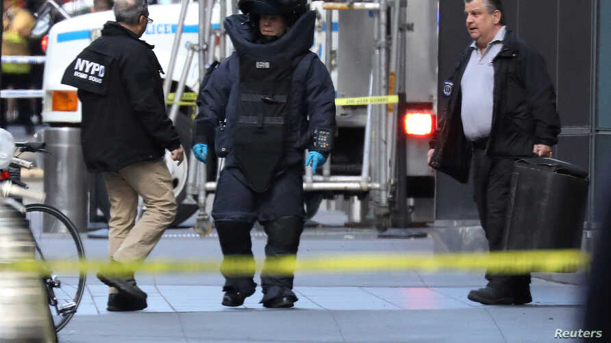 A member of the New York Police Department bomb squad