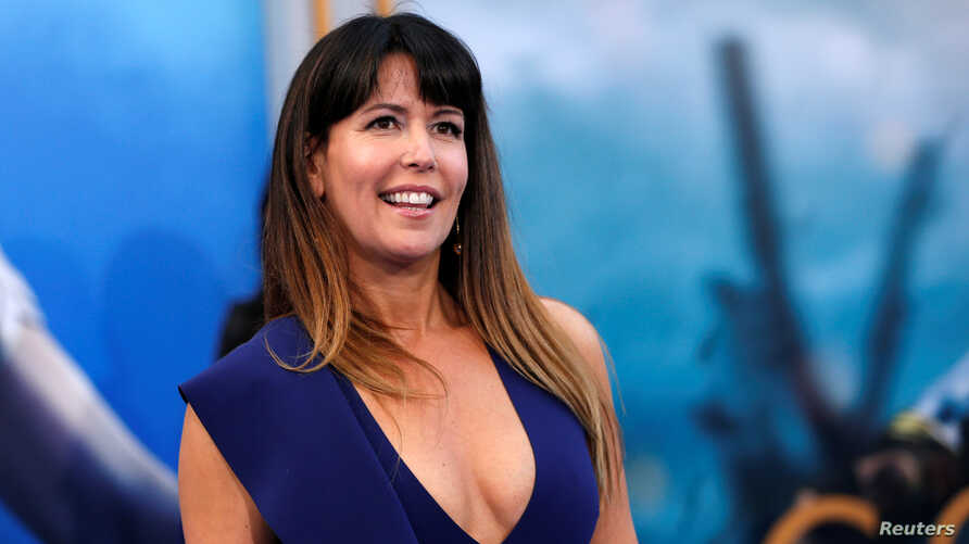 """Director of the movie Patty Jenkins poses at the premiere of """"Wonder Woman"""" in Los Angeles, California, May 25, 2017."""