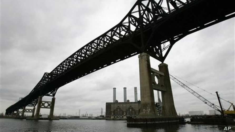 The 76-year-old Pulaski Skyway, which spans the Hackensack River and connects Jersey City and Newark, New Jersey, Jan. 5, 2009.