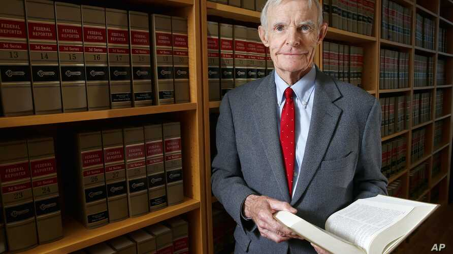 Judge William Canby is photographed in his office in Phoenix, Nov. 4, 2015.