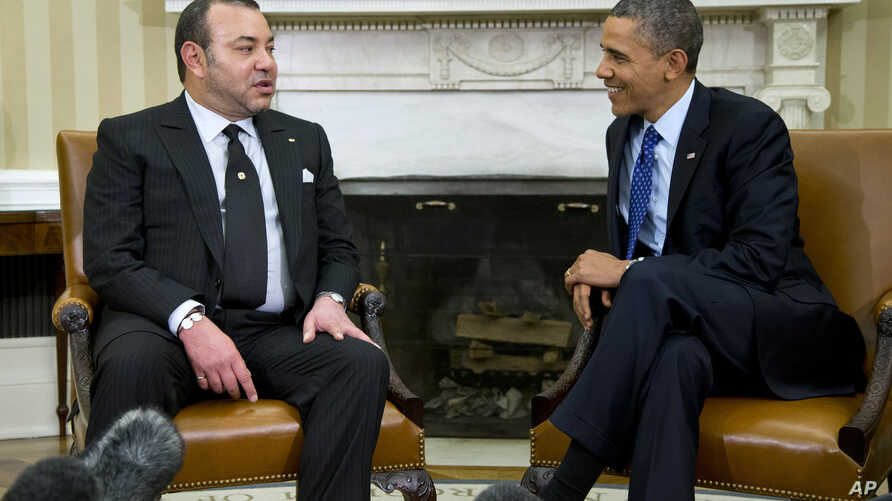 President Barack Obama meets with Morocco's King Mohammed VI, Nov. 22, 2013, in the Oval Office of the White House in Washington.