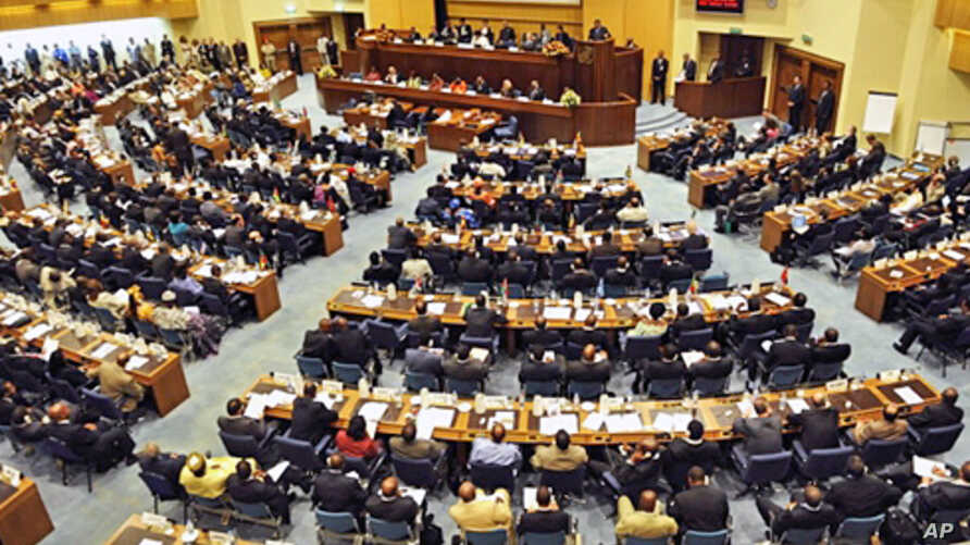 A general view taken 31 Jan 2010 shows the opening of the three-day AU summit in Addis Ababa