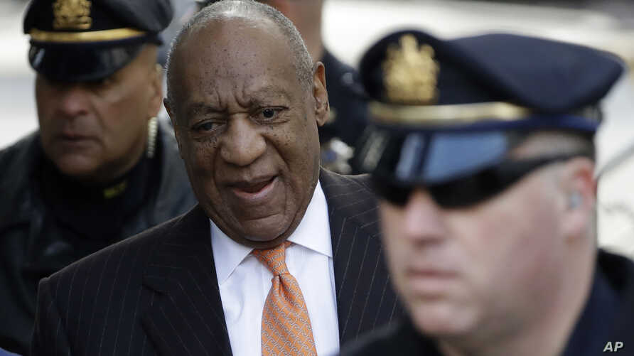 Bill Cosby arrives for his sexual assault trial, April 10, 2018, at the Montgomery County Courthouse in Norristown, Pennsylvania.