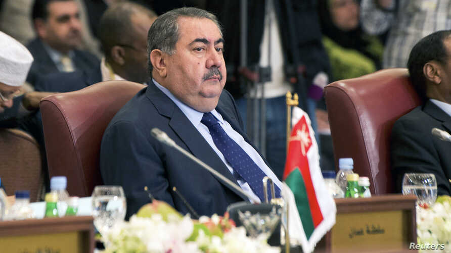 FILE - Iraq's Foreign Minister Hoshiyar Zebari attends the preparatory meeting of Arab Foreign Ministers in Kuwait City.
