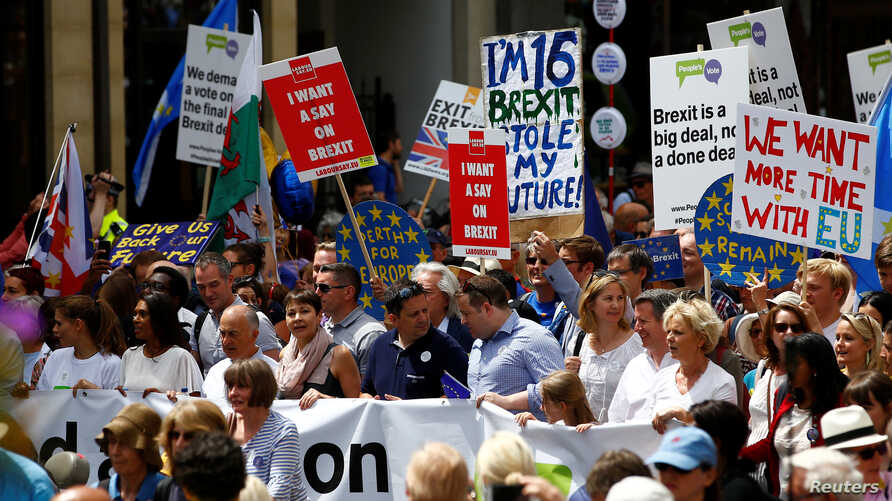 Anti-Brexit rally in central London