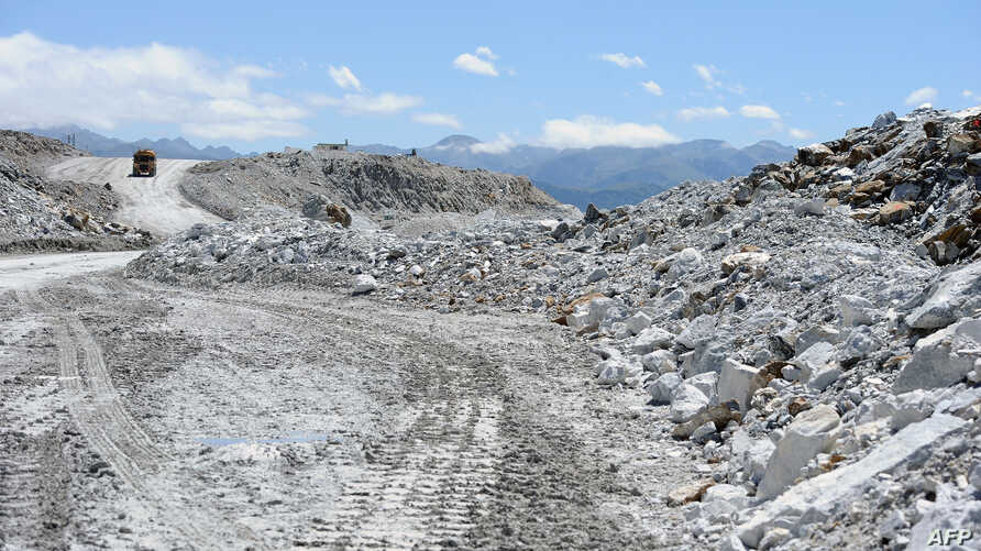 FILE - A talc quarry is seen in Europe, July 20, 2011. A report Tuesday said the illegal mining of talc in Afghanistan is funding insurgent activities.