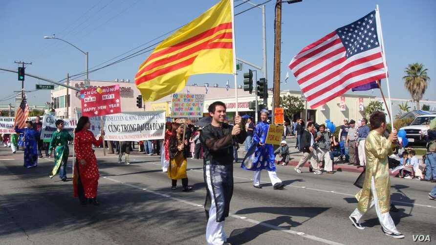 Members of the Vietnamese-American LGBT community march in the Orange County, California Tet parade in 2010.
