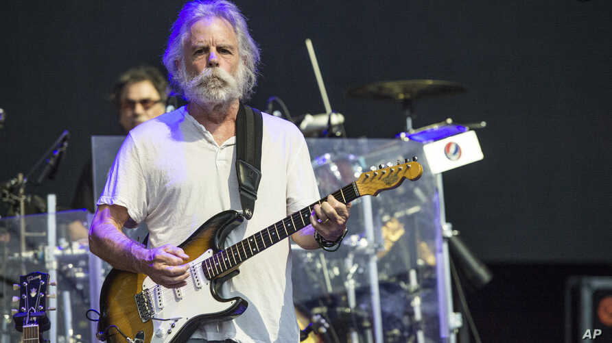 FILE - Bob Weir of Dead & Company performs at Bonnaroo Music and Arts Festival in Manchester, Tenn., June 12, 2016. Weir, Phil Lesh, John Fogerty, the Avett Brothers, Jim James, Gov't Mule and Margo Price are part of the lineup at the LOCKN' Festival