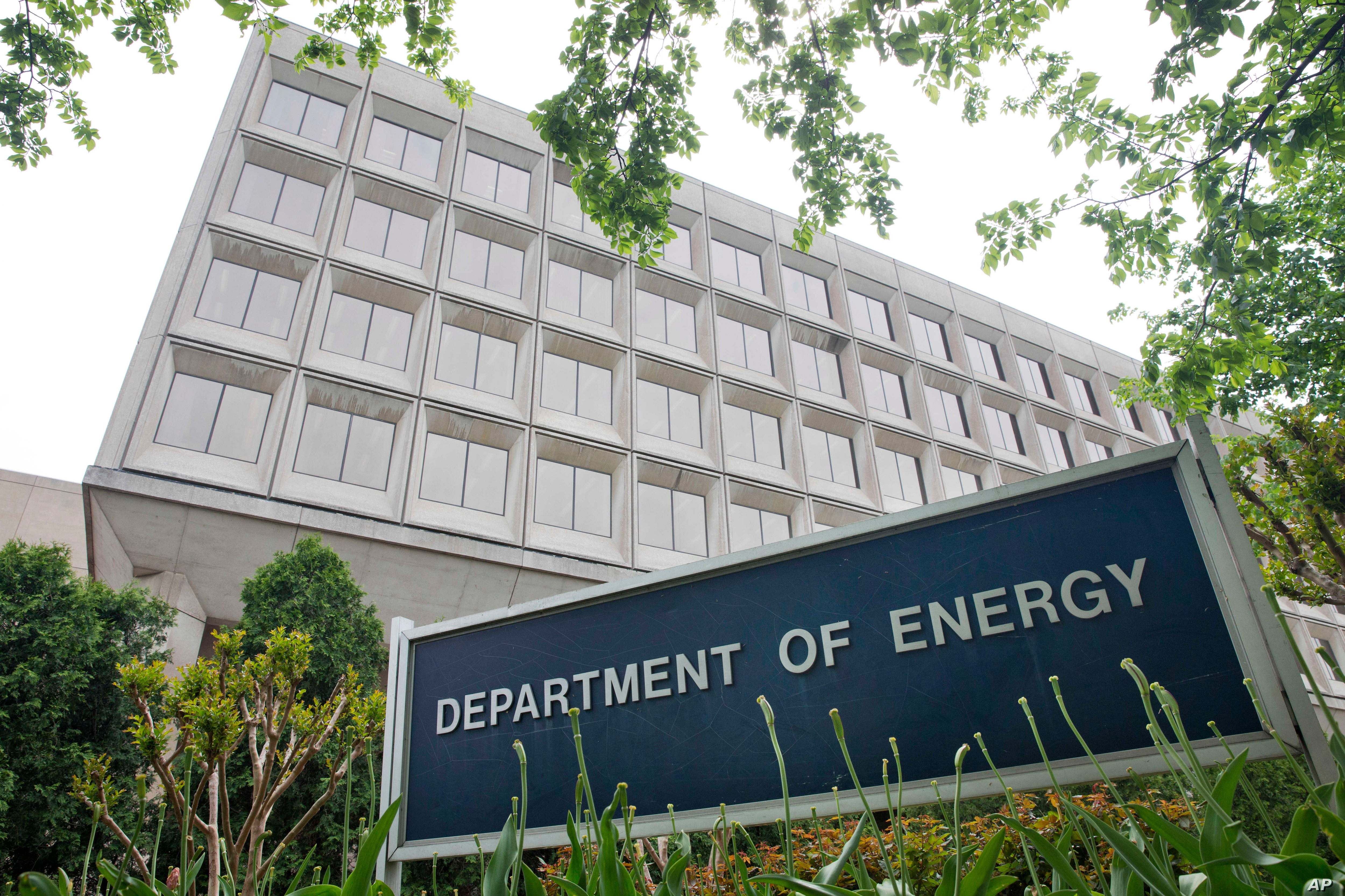 FILE - The Department of Energy is seen in Washington, D.C., May 1, 2015. The Trump transition team has disavowed a survey it sent to the Department survey sent to the U.S. Department of Energy requesting the names of people working on climate change