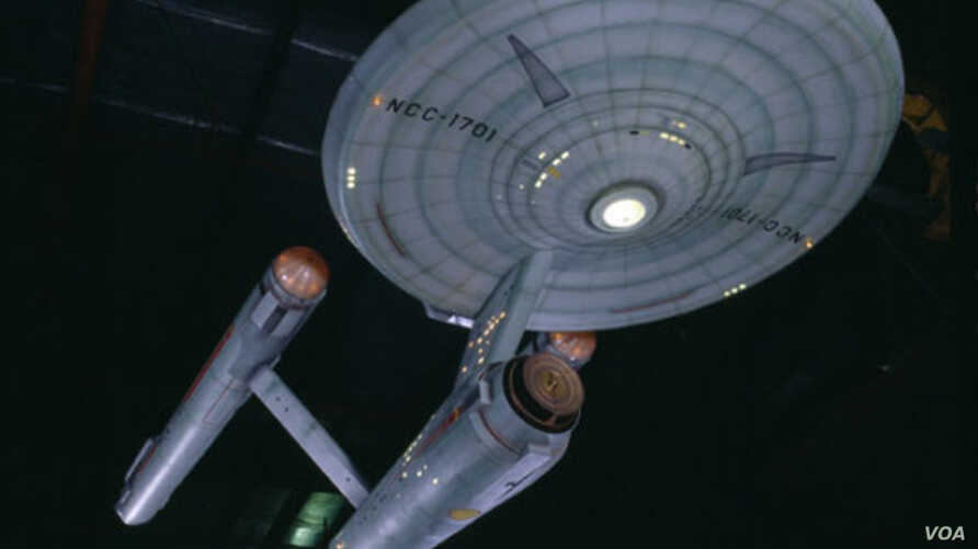 """The original model of the Enterprise spacecraft from the television show """"Star Trek"""" is on display at the National Air and Space Museum in Washington."""